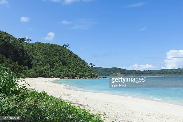 Deserted tropical island beach, southern Japan