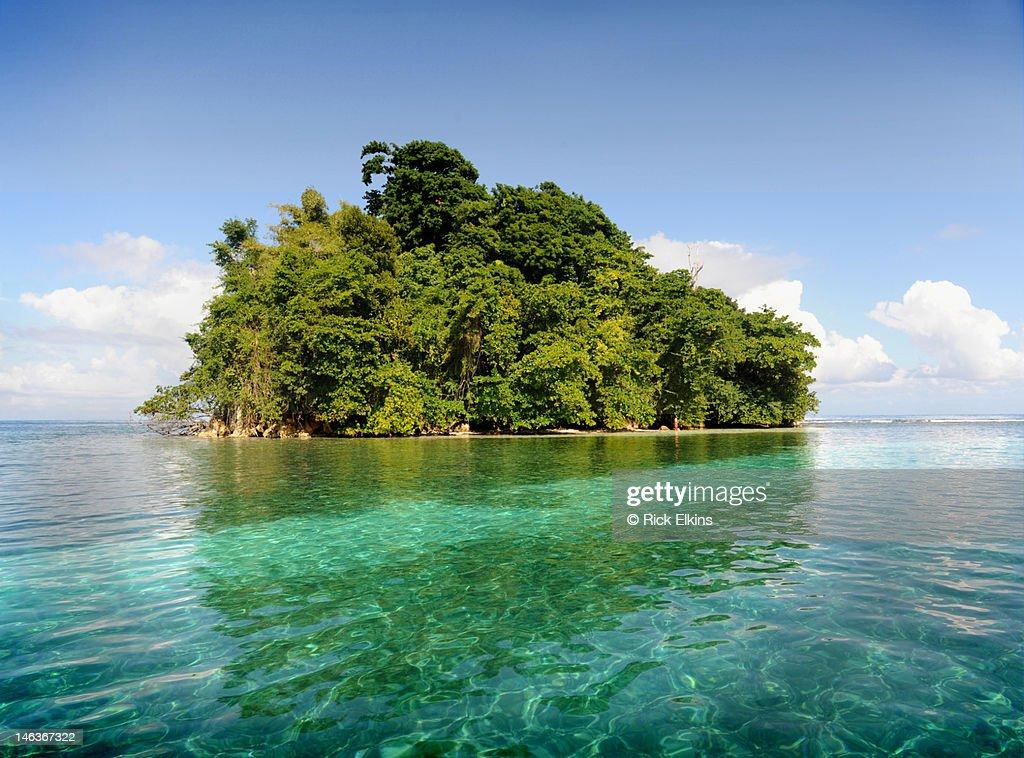 Deserted Tropical Island: Deserted Tropical Island Stock Photo