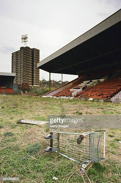 A deserted Valley stadium pictured in 1988 Charlton Athletic left the ground in 1985 to groundshare with Crystal Palace at Selhurst Park before...