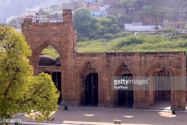 A Deserted view of AdhaiDin Ka Jhonpra mosque closed for visitors amid concerns over the spread of COVID19 novel coronavirus in Ajmer Rajasthan India...