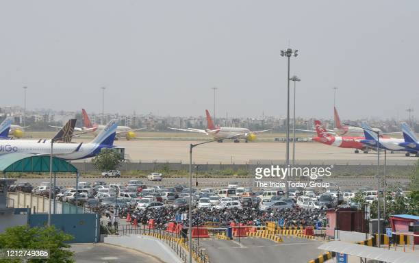 Deserted view of Indira Gandhi International Airport during government imposed nationwide lockdown in New Delhi