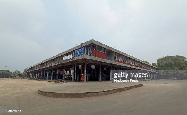 Deserted view of ISBT Sector 17 after Chandigarh administration moved the vegetable market to Sector 26, on September 14, 2020 in Chandigarh, India.