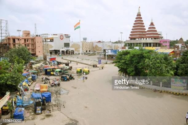 A deserted view of Patna Junction due to the lockdown imposed by the state government to curb the spread of rising coronavirus cases on July 11 2020...