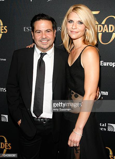 Desginer Narciso Rodriguez and actress Claire Danes attends the Vanidades 50th Anniversary celebration at Trump SoHo on September 23 2010 in New York...