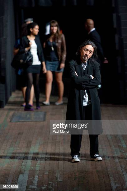 Desginer Yohji Yamamoto at Y-3 Spring 2010 during Mercedes-Benz Fashion Week at Park Avenue Armory on September 13, 2009 in New York City.