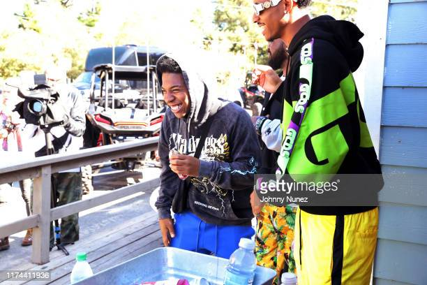 Deshae Frost and Cordell Broadus attend the Starstudded Adventure Ride hosted by Polaris Slingshot And RZR on September 12 2019 in Tenmile Oregon