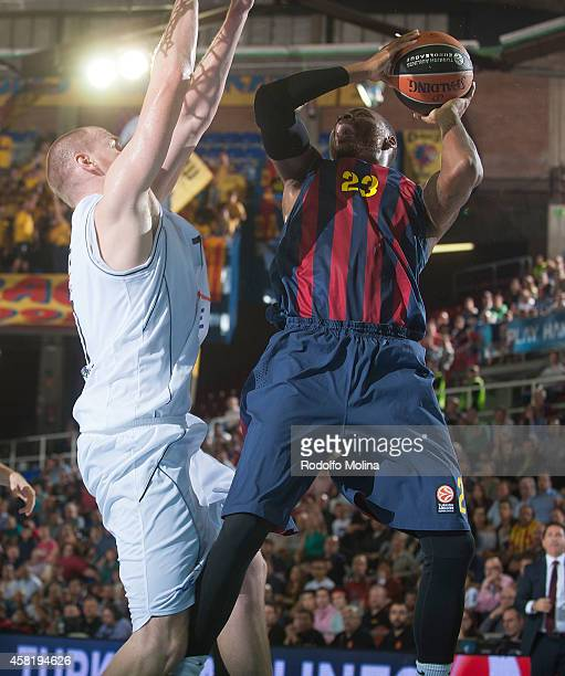Deshaun Thomas #23 of FC Barcelona in action during the 20142015 Turkish Airlines Euroleague Basketball Regular Season Date 3 game between FC...
