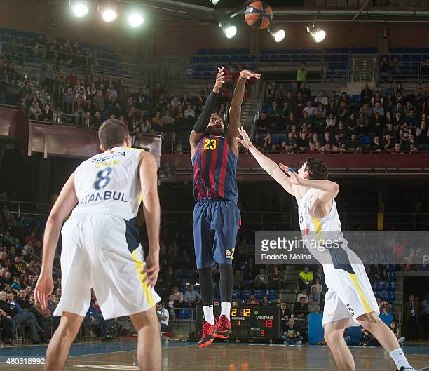 Deshaun Thomas #23 of FC Barcelona in action during the 20142015 Turkish Airlines Euroleague Basketball Regular Season Date 9 game between FC...