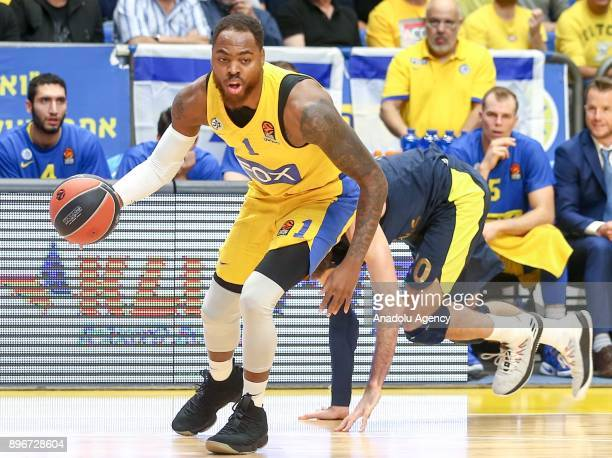 Deshaun Thomas of Maccabi Fox Tel Aviv in action during Turkish Airlines Euroleague match between Maccabi Fox Tel Aviv and Fenerbahce Dogus at the...