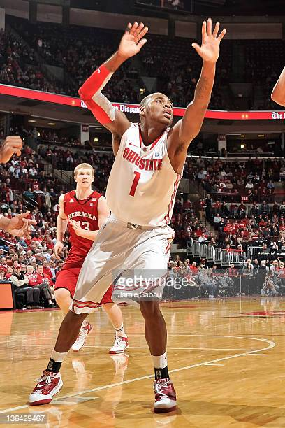 Deshaun Thomas of the Ohio State Buckeyes defends against the Nebraska Cornhuskers on January 3 2012 at Value City Arena in Columbus Ohio