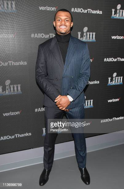 Deshaun Watson attends the world premiere event for The Team That Wouldn't Be Here documentary hosted by Verizon on January 31 2019 in Atlanta Georgia