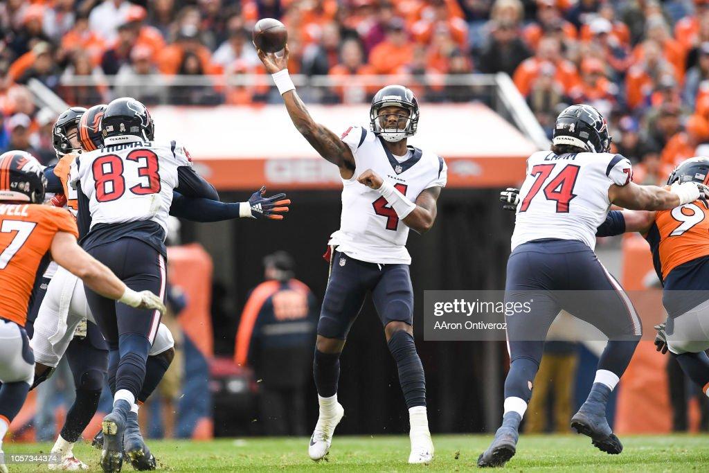 Denver Broncos vs. against the Houston Texans, NFL : News Photo