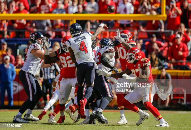 Deshaun Watson of the Houston Texans seals the 3124 victory over the Kansas City Chiefs with a completed pass on fourth down and 3 yards to go at...