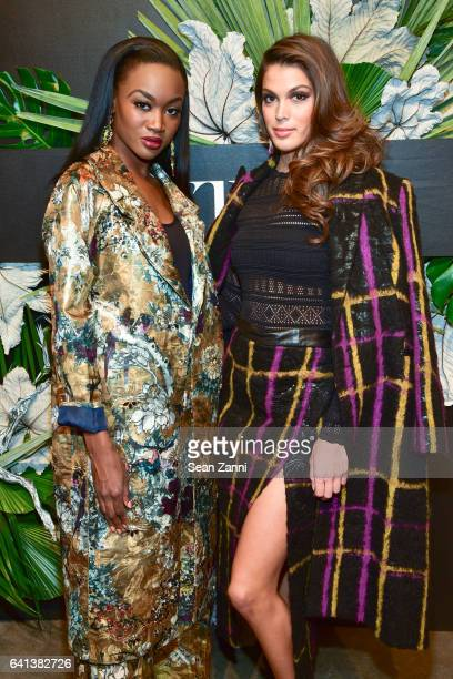 Deshauna Barber and Iris Mittenaere attend ELLE E And IMG Host New York Fashion Week February 2017 KickOff Event at 40 Bethune Street on February 8...
