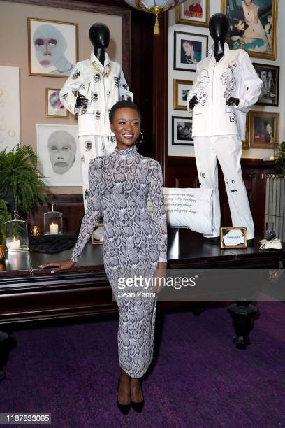 Deshauna Barber joins Swizz Beatz and the Marriott Bonvoy™ American Express® Credit Card portfolio Celebrate Women in Art on November 14 2019 in New...