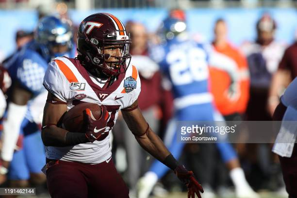 Deshawn McClease of Virginia Tech during the Belk Bowl college football game between the Virginia Tech Hokies and the Kentucky Wildcats on December...