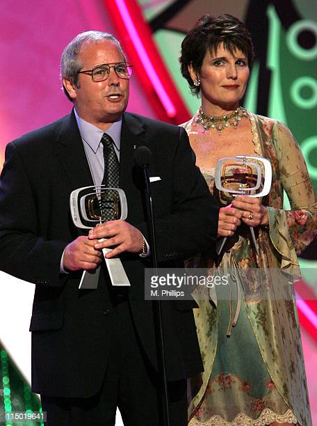 Desi Arnaz and Lucie Arnaz during 5th Annual TV Land Awards Show at Barker Hangar in Santa Monica California United States
