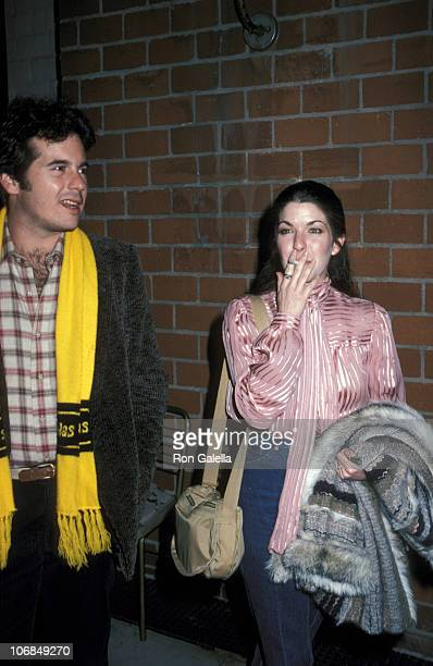 Desi Arnaz Jr and Gina Martin during Desi Arnaz Jr Jean Bisignano Ricky Martin and Gina Martin Sighting January 6 1981 at Mr Chow's Restaurant in...