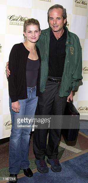 Desi Arnaz Jr and his daughter Haley arrive at the Carl Wilson benefit concert October 14 2001 at the El Rey Theatre in Los Angeles CA