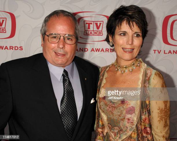 Desi Arnaz Jr and Lucie Arnaz during 5th Annual TV Land Awards Red Carpet at Barker Hangar in Santa Monica California United States