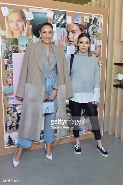 Desi Perkins and Katy Degroot attend Summer Fridays Skincare Launch With Marianna Hewitt Lauren Gores Ireland at Hayden on March 15 2018 in Culver...