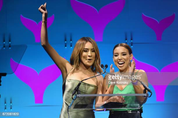 Desi Perkins and Lustrelux present on stage at The 9th Annual Shorty Awards on April 23 2017 in New York City