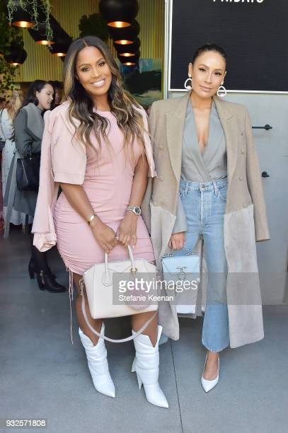 Desi Perkins and Shayla Mitchell attend Summer Fridays Skincare Launch With Marianna Hewitt Lauren Gores Ireland at Hayden on March 15 2018 in Culver...