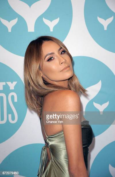 Desi Perkins attends 9th Annual Shorty Awards at PlayStation Theater on April 23 2017 in New York City