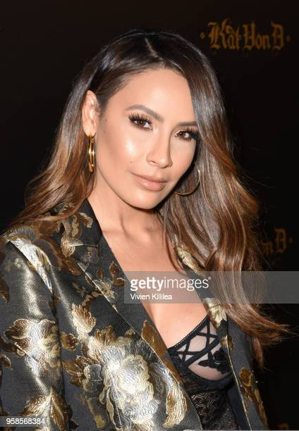 Desi Perkins attends Kat Von D Beauty 10th Anniversary Party at Vibiana Cathedral on May 10 2018 in Los Angeles California