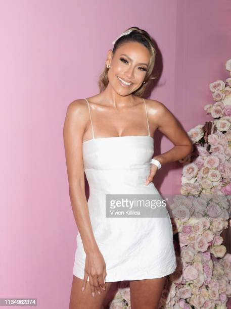 Desi Perkins attends Patrick Ta Beauty Launch on April 4 2019 in Los Angeles California