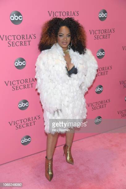 Desi Perkins attends the 2018 Victoria's Secret Fashion Show at Pier 94 on November 08 2018 in New York City