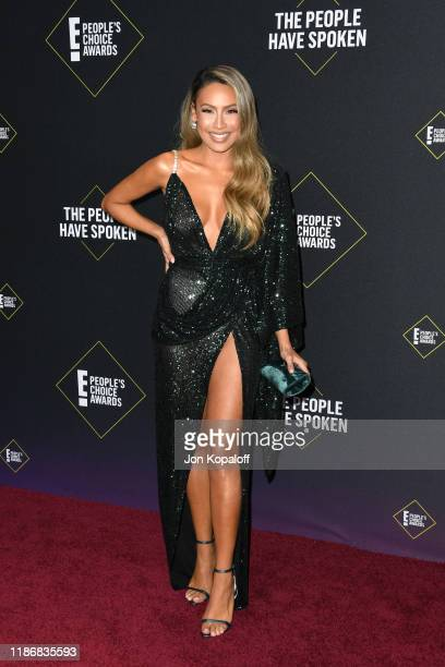 Desi Perkins attends the 2019 E People's Choice Awards at Barker Hangar on November 10 2019 in Santa Monica California