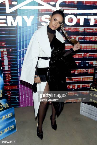 Desi Perkins attends the MAC Cosmetics Jeremy Scott Collaboration on February 8 2018 in New York City