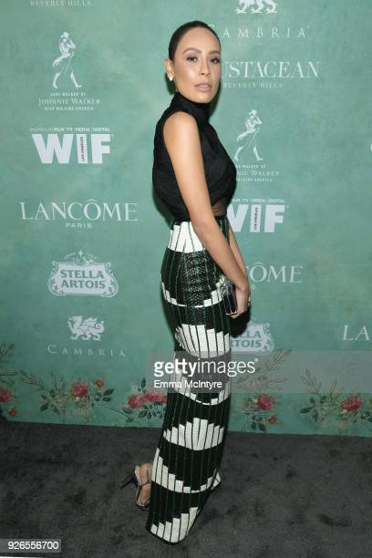 Desi Perkins attends Women In Film PreOscar Cocktail Party presented by Max Mara and Lancome with additional support from Crustacean Beverly Hills...
