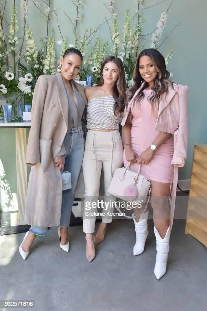 Desi Perkins Lauren Gores Ireland and Shayla Mitchell attend Summer Fridays Skincare Launch With Marianna Hewitt Lauren Gores Ireland at Hayden on...
