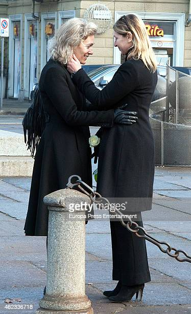Desideria di Assaba Torlonia attend the funeral service for Princess Sandra Torlonia grand daughter of King Alfonso XIII of Spain on January 08 2015...