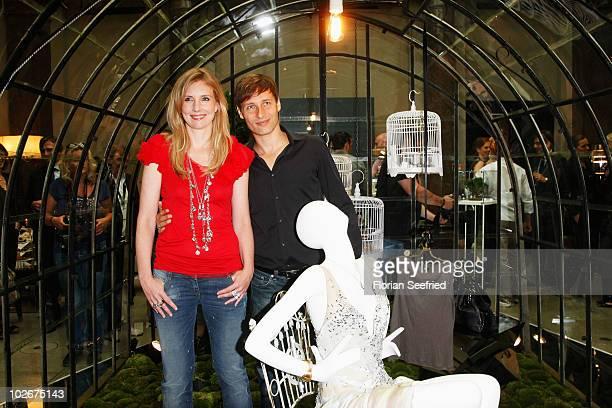 Desigern Jette Joop and husband Christian Elsen attend the Jette Lounge during the Mercedes Benz Fashion Week Spring/Summer 2011 at Bebelplatz on...