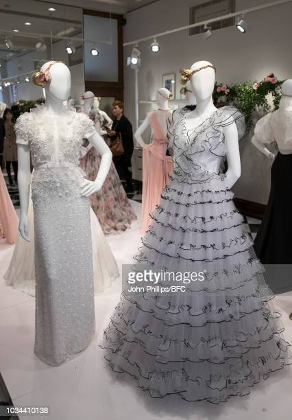 A design by Jenny Packham during London Fashion Week September 2018 on September 16 2018 in London England