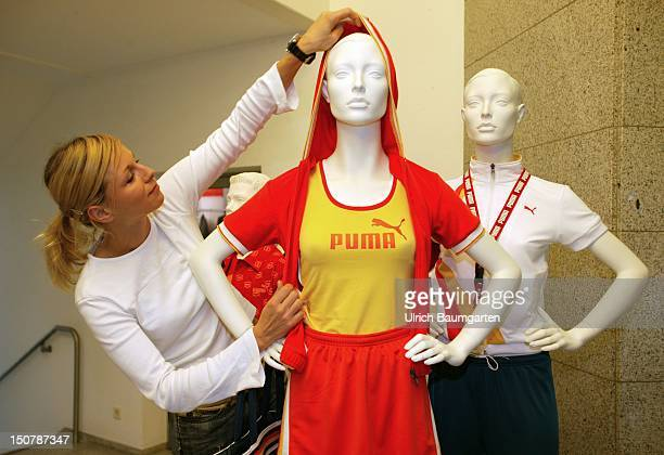Design department of the Puma AG Designer with a dummy