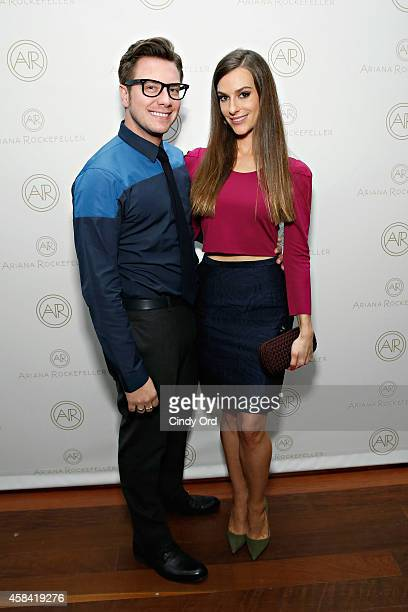 Design Director at Ariana Rockefeller Rob Younkers and fashion designer Ariana Rockefeller attend the opening reception to celebrate Ariana...