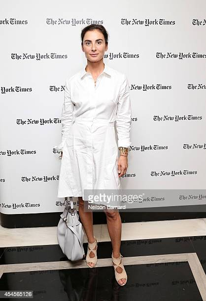 Design Director at Tiffany Co Francesca Amfitheatrof attends the New York Times Vanessa Friedman and Alexandra Jacobs welcome party on September 3...