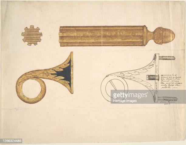 Design for a Bracket and Rod for Drapery 19th century Artist Anon