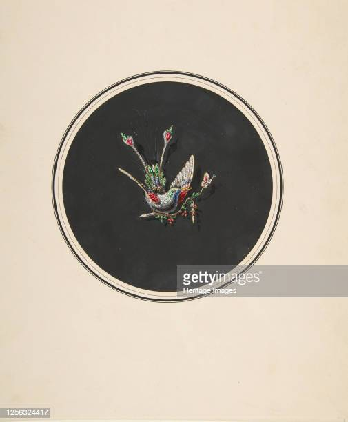 Design for a brooch with a bird motif, 19th century. Artist Anon.