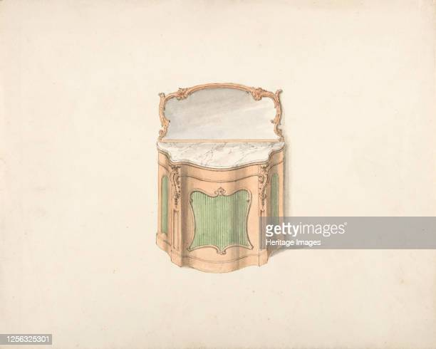 Design for a Dressing Cabinet with Marble Top and Mirror early 19th century Artist Anon