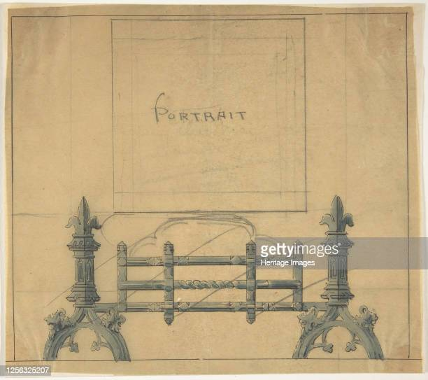 Design for a Fireplace Grate 19th century Artist Anon