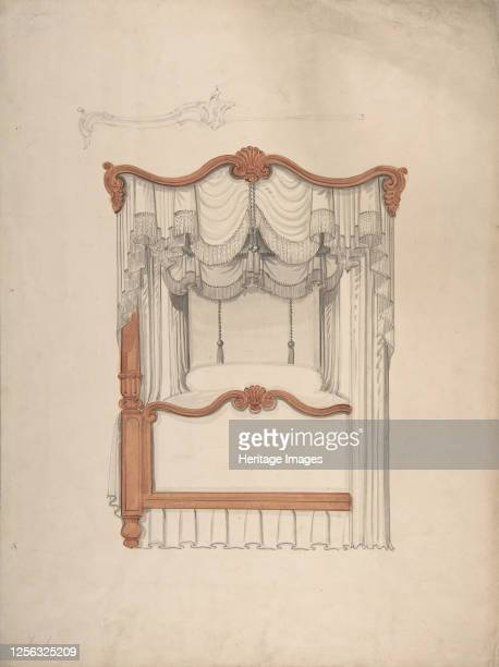 Design for a Fourposter Bed with Draperies 184099 Artist Anon