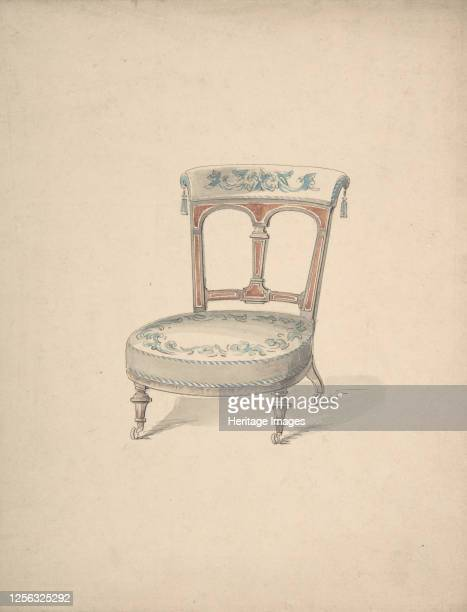 Design for a Low Chair on Casters 184099 Artist Anon