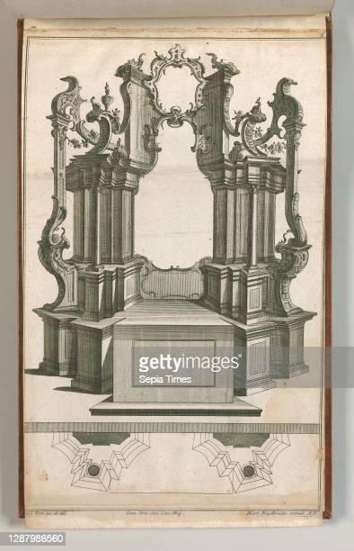Design for a Monumental Altar, Plate 'q' from 'Unterschiedliche Neu Inventierte Altare mit darzu gehorigen Profillen u. Grundrissen.', Jacob Gottlieb...