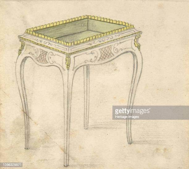 Design for a Small Hollowtopped Table 19th century Artist Anon