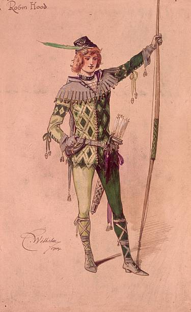 Design for a stage costume of the outlaw Robin Hood...